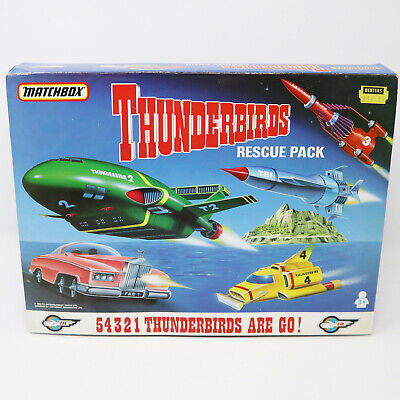£79.99 • Buy Vintage 1992 Matchbox Thunderbirds Rescue Pack Vehicle Set Complete Boxed
