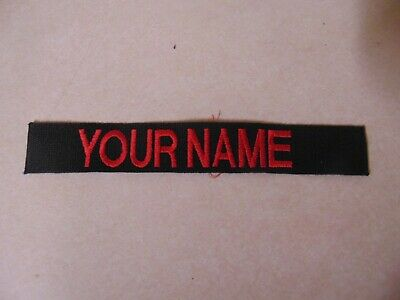 $2.29 • Buy Us Military Patch Name Tape Tag Sew On Older Black With Name Your Name