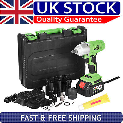 """View Details Electric Cordless Impact Wrench Drill Gun Driver Tool 1/2"""" Ratchet Drive Sockets • 50.33£"""