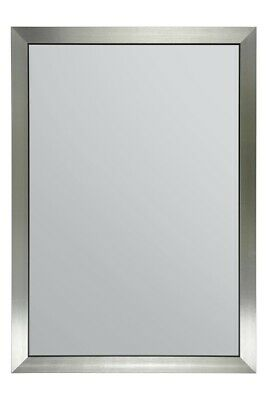 £57.39 • Buy Extra Large New Brushed Silver Wall Mirror 100cm X70cm. Hand Made In The UK
