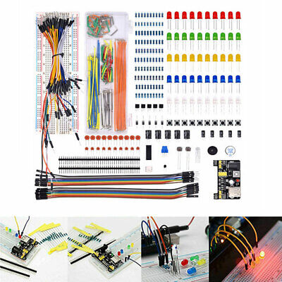 Electronic Component Starter Kit Wire Breadboard LED Buzzer Resistor Transistor • 12.66£
