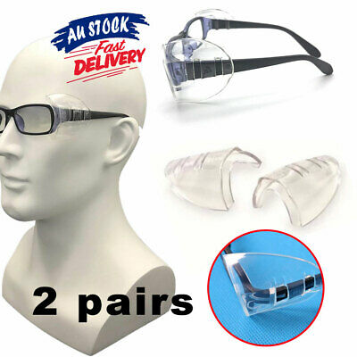 AU6.95 • Buy 4X Protection Glasses Eye Clear Goggles Universal Side Shields Flexible Safety