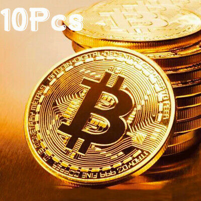 AU19.99 • Buy 10Pcs Gold Bitcoin Commemorative 2020 New Collectors Gold Plated Bit Coin BU