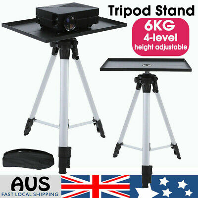 AU42.98 • Buy Projector Tripod Stand Aluminium Adjustable For Laptop With Tray 53-136cm Height