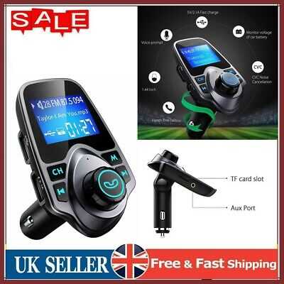 £8.99 • Buy Bluetooth 5.0 Wireless Handsfree Car FM Transmitter MP3 Player 2 USB Charger Kit