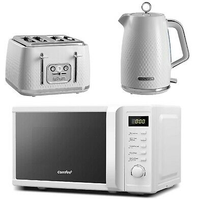 £184.99 • Buy White Morphy Richards 4 Slice Toaster & Electric Kettle Microwave Oven COMFEE'