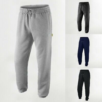£13.99 • Buy SITE KING Mens Fleece Joggers Tracksuit Bottoms For Work With Zip Pockets