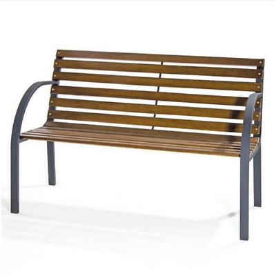 £98.49 • Buy New York Bench In Metal And Wooden Slats 122x60x80 Cm Bench For Outdoors