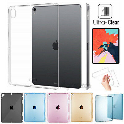 "AU6.17 • Buy For IPad Pro 12.9  11  Air 4th 10.9"" 2020 Clear TPU Case Transparent Soft Cover"