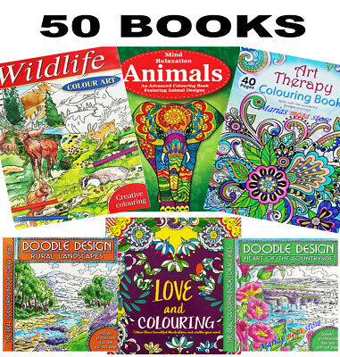 A4 COLOURING BOOKS BOOK KIDS ADULT STRESS RELIEF Colour Therapy DOODLE ALL AGES • 4.29£