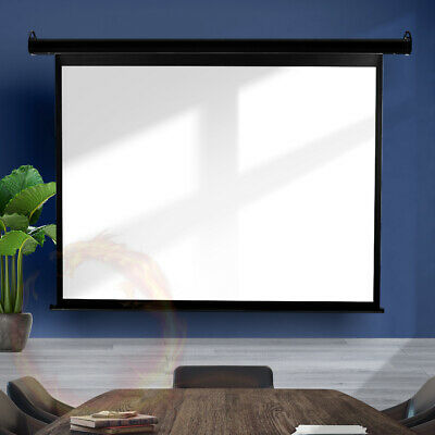 AU112.98 • Buy 100  Inch Projector Screen Electric Motorised Projection Retractable 3D Cinema