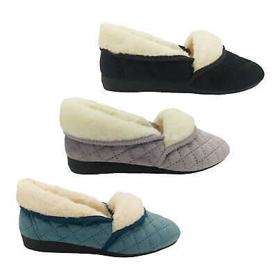 AU39.95 • Buy Grosby Sare Ladies Slippers Slip On Soft Stitch Pattern Velour Fluffy Lined