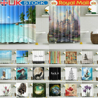 £14.62 • Buy Printed Shower Curtain Waterproof Polyester Fabric Bathroom Shower Curtain