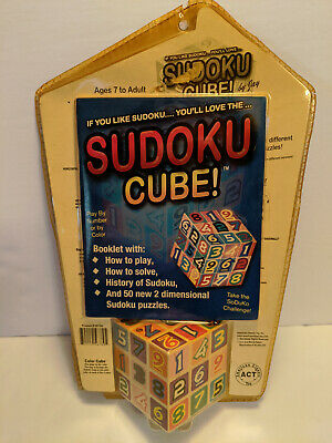 SUDOKU CUBE Brain Teaser 18 Different Puzzles Ages 7 To Adult • 10.61£