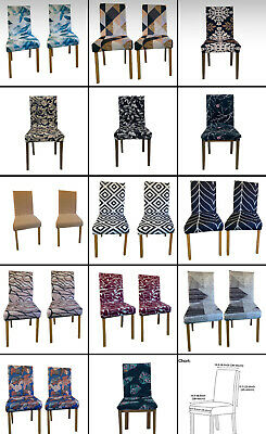 £3.88 • Buy 1/2/4/6PCS Dining Chair Seat Covers Slip Stretch Wedding Banquet Party Removable