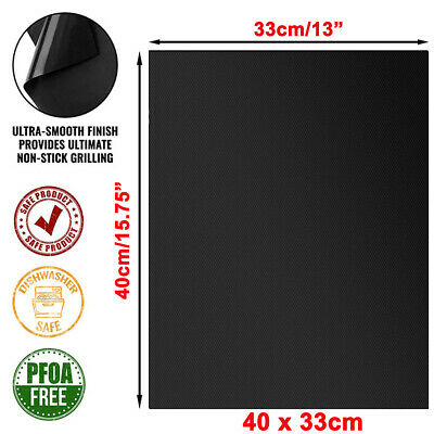 £7.29 • Buy 5/10X BBQ Grill Mat Reusable Sheet Resistant Non-Stick Barbecue Bake Cooking Mat