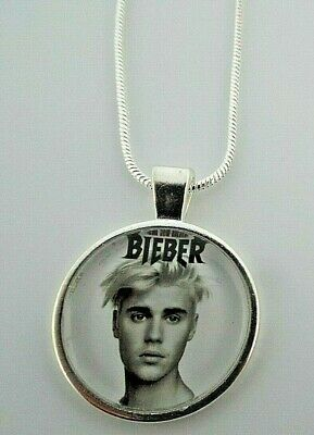 £6.50 • Buy Justin  Bieber  Singer Photo  Pendant Silver Chain Necklace Gift Box Birthday