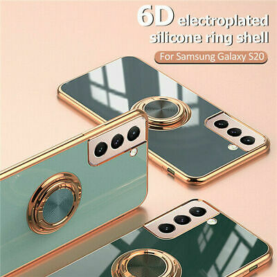 AU8.99 • Buy For Samsung Galaxy S21 Ultra Plus S20 FE Magnetic Ring Holder Rubber Case Cover