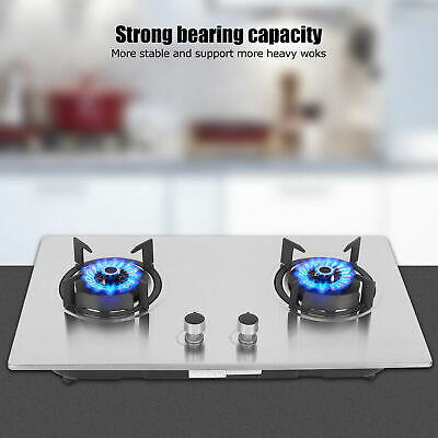 AU149.05 • Buy Embedded 2 Burner Liquefied Gas Stove Cook Cooker For Home Kitchen Cooking