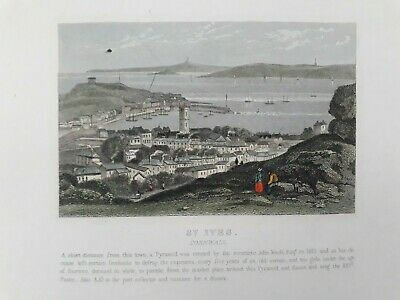 £6.50 • Buy St Ives Cornwall Antique Print 19th Century C1860