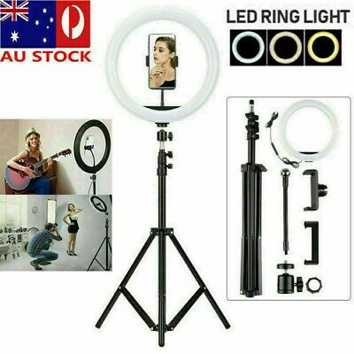 AU27.45 • Buy 12  LED Ring Light Lamp Stand Kit Dimmable Photo Studio Selfie Phone Makeup Live