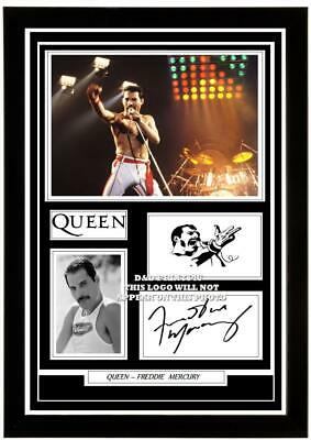 £15.90 • Buy 43) Freddie Mercury  Queen Signed Photograph Framed Unframed Reprint Great Gift