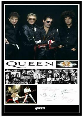 £5.99 • Buy (#165)  Queen Freddie Mercury Signed  A4 Photo//framed (reprint) Great Gift @@@@