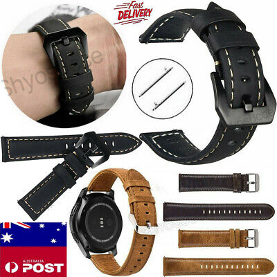 AU12.34 • Buy Leather Wrist Band Strap ForSamsungGalaxyWatch341/45mmGearS2 S3Frontier