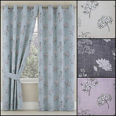 £26.99 • Buy Tiffany Thermal Blackout Ring Top Floral Curtains Range (Pair) - Limited Stock