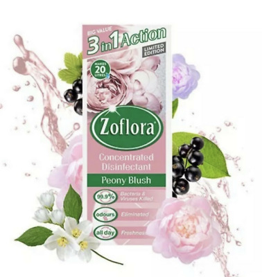 Zoflora Peony Blush 500ml Limited Edition Concentrated Disinfectant Mrs Hinch • 8£