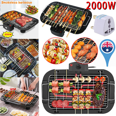 £22.99 • Buy Electric Grill Table Top BBQ Barbecue Garden Camping Cooking 2000W Indoor Or Out