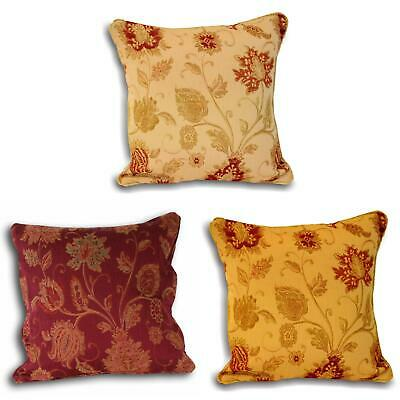 £7.49 • Buy Zurich Cushion Covers Floral Jacquard Luxury Cushions Cover 18  X 18  Paoletti