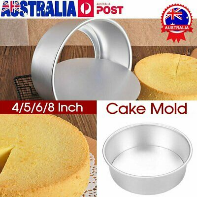 AU10.92 • Buy 4/5/6/8/10 Inch Cake Mold Round DIY Cakes Pastry MouldROaking Tin Pan Reusable B