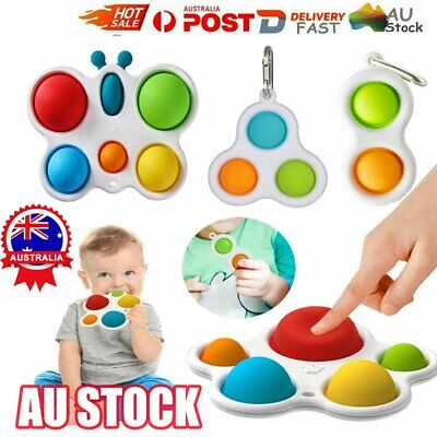 AU11.96 • Buy Baby Simple Dimple Sensory Toys, Silicone Flipping Board 0-1 Years Old Safety RO