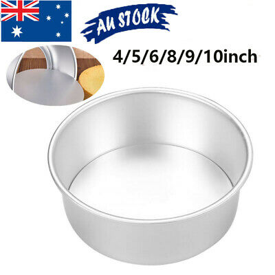 AU10.44 • Buy 4/5/6/8/9/10 Inch Cake Mold Round DIY Pastry Mould Cakes Baking Tin Pan Reusable