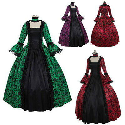 £21.99 • Buy Lady Women Victorian Cosplay Costume Dress Medieval Renaissance Party Ball Gown