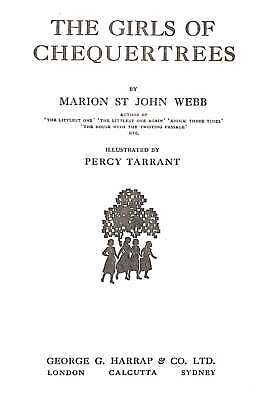 £17 • Buy The Girls Of Chequertrees, Webb, Marion St,John, Good Condition Book, ISBN