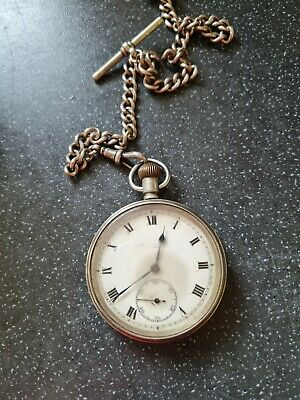 £200 • Buy Vintage Swiss Silver CYMA Railway Uniform Issued Pocket Watch And Chain Rare