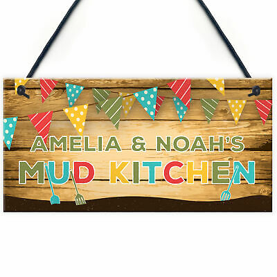 £4.99 • Buy Personalised Colourful Mud Kitchen Sign For Garden Daughter Son Gift Home Gift
