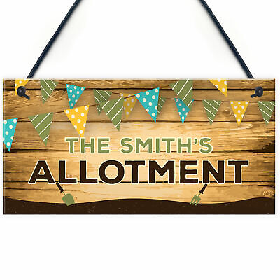 Personalised Colourful Allotment Sign For Garden Shed Family Gift Home Gift • 5.99£