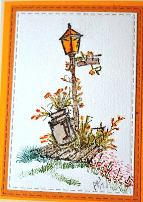 $16.99 • Buy COUNTRY LAMP & MILK CAN Retired!! (U Get Photo #2) Art Impressions Rubber Stamps