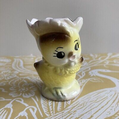 £6.99 • Buy Vintage Ceramic Novelty Egg Cup - Yellow Chick