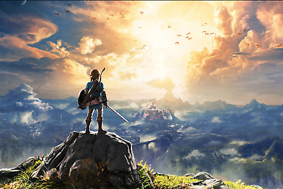 $20 • Buy The Legend Of Zelda Breath Of The Wild Link Poster 24x36 Inches