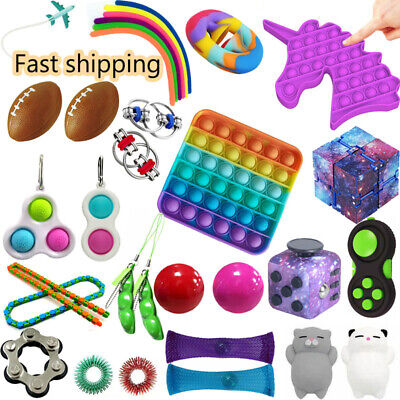 AU29 • Buy Sensory Fidget Toys Set For Kids Adults Anxiety Relief Stress Party Favors Gift
