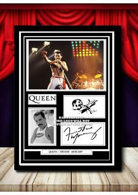 £15.90 • Buy (#301) Freddie Mercury Signed  A4 Photo//framed (reprint) Great Gift +++++