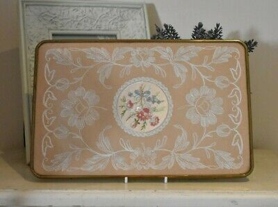 £25 • Buy Vintage Petit Point Tray Embroidered Dressing Table Tray (refF226)