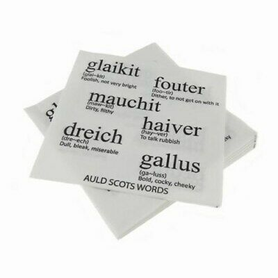 £4.75 • Buy New Party Burns Night Paper Auld Scots Words Napkins Serviettes (Pack Of 20)