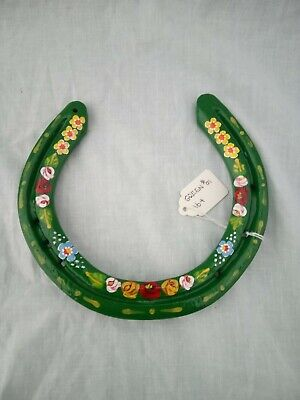 £14 • Buy Green Roses And Castles Canal Ware Narrow Boat Bargeware Horseshoe 16-17 Cm #01