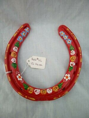 £10 • Buy Red Roses And Castles Canal Ware Narrow Boat Bargeware Horseshoe 13-14cm #02