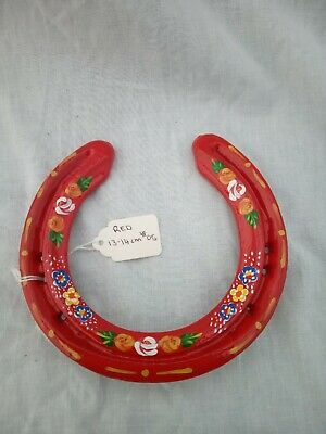 £10 • Buy Red Roses And Castles Canal Ware Narrow Boat Bargeware Horseshoe 13-14m #05
